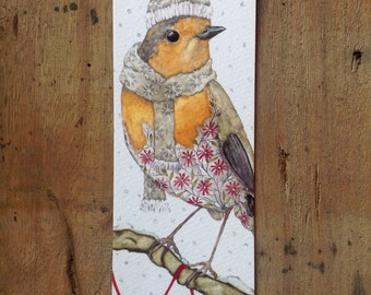Bookmark with robin