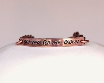 Personalised copper bracelet // Lyric or quote of your choice // Made to order