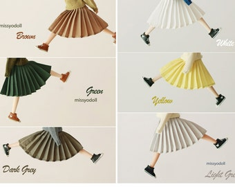 Missyo 2017 Winter & Spring - Pleated Skirt for Blythe doll - 6 colors in