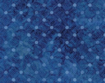 INDI-GLOW-tossed blue tonal dots cathedral window  by the 1/2 yard WilmingtonPrints fabric- 82656-144