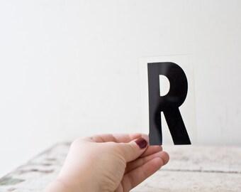 Vintage Letter R - Black Marquee Plastic Letter R Vintage Marquee Sign Vintage Sign R Sign