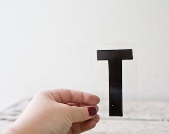 Vintage Letter T - Black Marquee Plastic Letter T Vintage Marquee Sign Vintage Sign T Sign