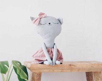 Benita // handmade kitty doll // red dress // gifts for kids // softie - plushie // kids room decoration