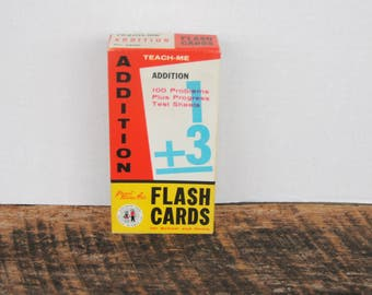 Vintage 1962 Teach Me Addition Flash Cards by Gelles Widmer Co
