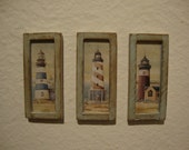 dollhouse miniature  3 little pictures shabby chic