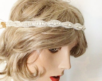 Rhinestone headpiece bridal headband BRIDAL HEADPIECE wedding headband wedding accessories bridal accessories