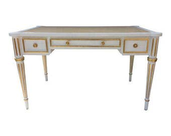 SOLD French Painted Gilt Desk by Mark David