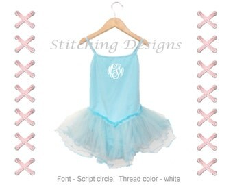 Monogrammed Toddler leotard, spaghetti strap, tutu attached, Toddler ballet leotard, Personalized tutu, 5 Colors available, 2T and 4T