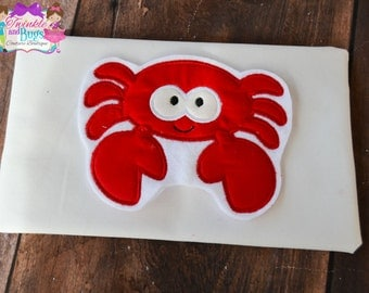 Crab applique shirt, summer, custom clothing, applique, embroidery, characters, boys and girls clothing, Christmas