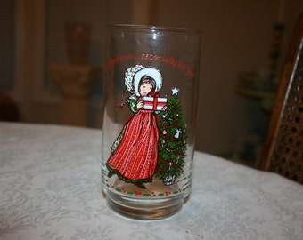 Vintage Coca Cola & American Greetings Holly Hobbie Glass Tumblers Glassware 1981 (three available)