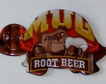 Turtle Magnet - MUG Bulldog Root Beer Soda Can