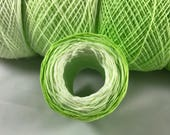 Crochet Thread - Hand Dyed - Lime Four Color Gradient - HDT - Large Project Sizes - Size 10