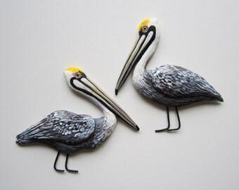 Pelican wall decor, florida bird sculptures, brown Pelican sculpture