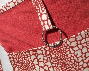 Linen Cafe Apron, 3 Pocket Half apron, Lined Pocket apron, Utility Half apron, Crafters apron