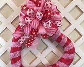 Script Print Valentine Heart Wreath, Valentine Wreath, Valentine Decor