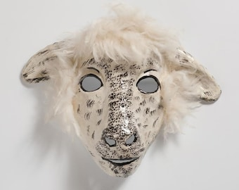 New Year sheep paper mask