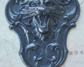 Fierce Tiger Brass Stamping, Black Satin - Supplies by CalliopesAttic