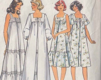 1978 Vintage Sewing Pattern for women's nighties, size 12 (Style 2314)
