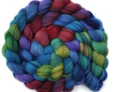 Hand dyed roving - 21.5μ Merino wool combed top spinning fiber - 4.0 ounces - Wonderful Memories 1