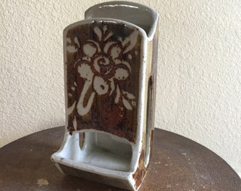 Vintage Match Holder ~ Petteford Pottery ~ Wall Mount