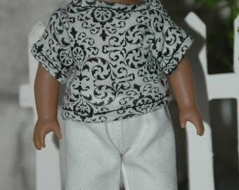 American, made, girl, 6.5 inch, doll, pants, shirt, mini doll