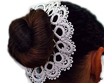 Hair accessories for girls - handmade lace - for ballerinas - for dancing -  bridesmaid - decoration for ballerina hairstyles