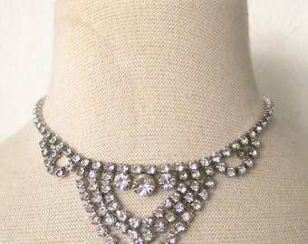 Old Hollywood Glam - Vintage necklace Art Deco