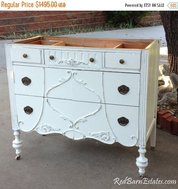 On sale antique bathroom vanity dresser custom by redbarnestates for Dresser bathroom vanity for sale