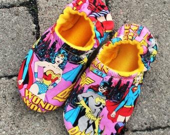 Wonder Woman/Supergirl/Batgirl Slippers -Choose Your Heros