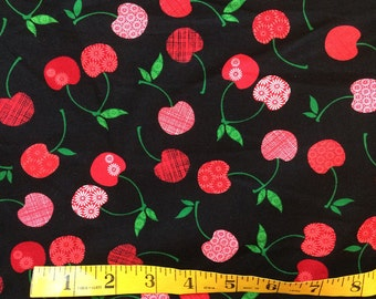 Cherry Toss Cotton Quilting Fabric - One Yard - More Yards Available