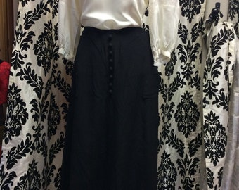 30's Bias Cut Black Beauty Skirt