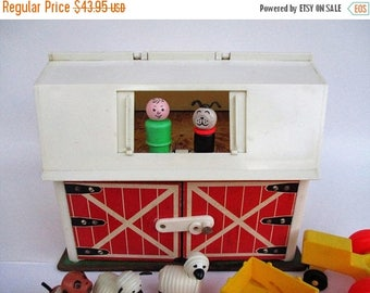 Spring SALE 20% OFF Vintage 1967 Fisher Price Play Family Farm Little People #915 with Accessories