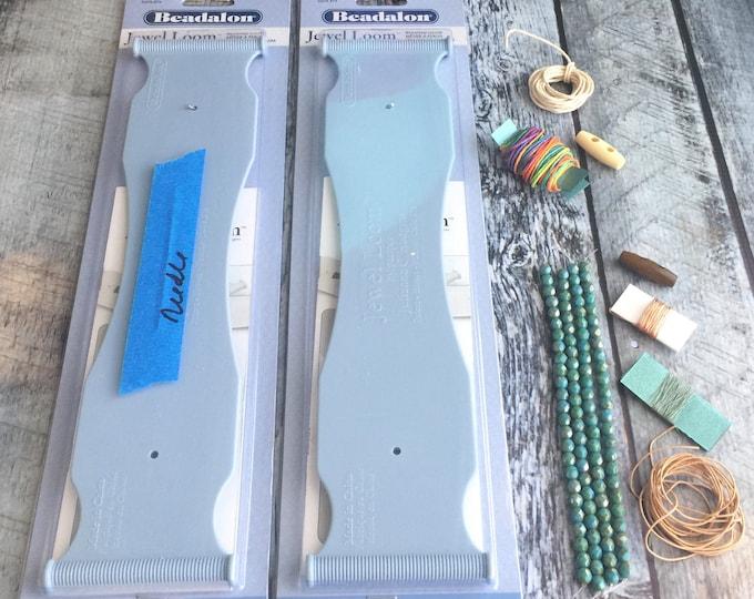 Bead Kit Awareness Beaded Cuff Materials Kit with Online Course by Julianna C Avelar Jewel Loom Beadalon