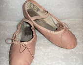 Vintage Girls Pink Leather Ballet Shoes Spotlights by ABT Size 2 Only 5 USD