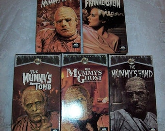 The Bride of Frankenstein & 4 Mummy's Movies Vintage VHS Tapes get All 5 for 6 USD
