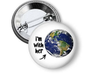 Earth Pin Planet Earth Button Climate Change Pin Science Pin N157