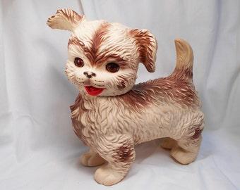 Edward Mobley Large Rubber Squeaky Dog Toy Sleepy Eyes  Vintage