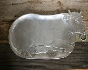 Vander Imports Metal Carving Platter, Cheese & Meat Tray