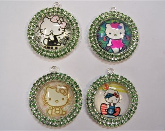 36mm, Hello Kitty  Inspired Pendant, Z15 Select one of the four