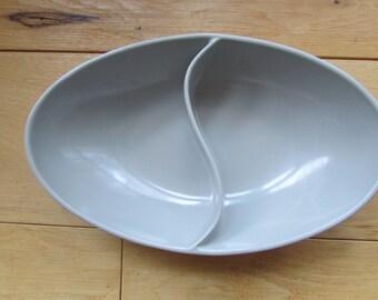 Spaulding Ware Chicago Grey Vintage Divided Bowl