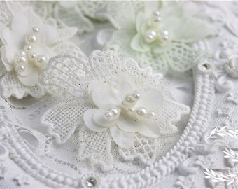 15pcs 6x5cm wide ivory/aqua beads bridal wedding embroidered dress lace appliques patches R39Y88O0327P free ship