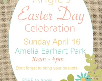 Easter Invitation for Birthday, Bridal Shower, any Occasion