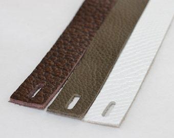 3pcs Leather Bracelet Blank, Genuine Leather Strap for Bracelet , Metallic Leather Cuff  Blank
