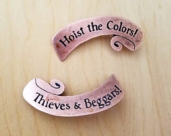 TRFF Hoist The Colors - Thieves & Beggars Copper Pin Set