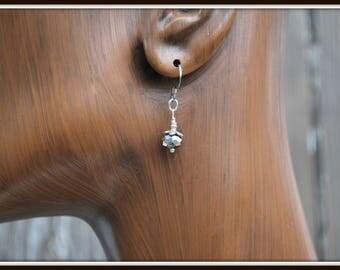 Gray Crystal Earrings, Crystal Earrings, Casual Earrings, Casual Crystal Earrings, Short Earrings, Everyday Earrings