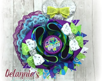 Be You Tiful Over The Top Hair Bow ~ Stacked Boutique Bow ~ OTT Hairbows