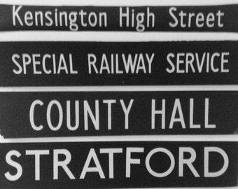 Vintage  London bus blinds.   unframed for easy postage lots of destinations SALE NOW ON!!
