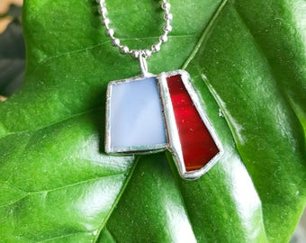 Unique Small Stained Glass Necklace Pendant