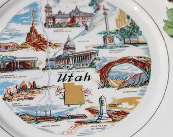 Utah State Collector Plate Utah Souvenir State Plate