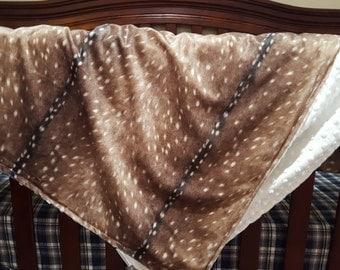 Deer Skin Minky Baby Blanket